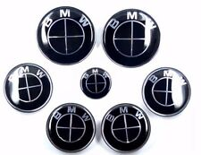 7x FOR BMW emblem SET FULL Black Emblem Logo e60 e90 e46 e61 SET A or B