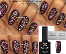 Bluesky Galaxy 02 Chameleon Flakes Nail Gel Polish UV LED Soak Off + Free Wipes