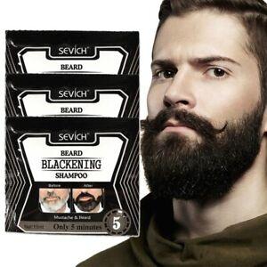 5Mins Blackening Beard Shampoo 15ml Dye Beard Into Black Coloring Grey RemovJCJC