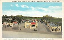 Colorado Co Postcard c1920s COLORADO SPRINGS Mountain View Cottage Camp Roadside