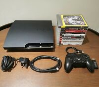 Sony PlayStation 3 Slim 120GB Console Mega Bundle 10 Games & Controller & Leads