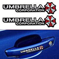 4× Resident Evil Umbrella Car Sticker PET Graphic Zombie Car Decal Motor Emblem!