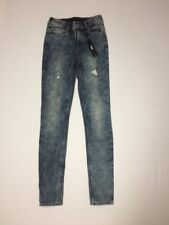 Express Jeans Legging Womens 0 Reg Inseam 30 High Rise Distressed NWT
