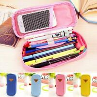 Pen Case School Pencil Box Stationery Makeup Brush Pouch Cosmetic Storage Bag BG