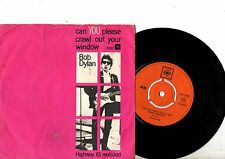 BOB DYLAN 7' PS Can You Please Crawl Denmark ULTRA RARE cover CBS 1900 Danish 45