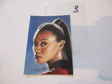 2017 Star Trek Beyond Trading Cards Uhura Color Sketch by Kristin Allen -03