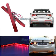 2Pcs Red Lens LED Bumper Reflector Marker Lights Fit For 2009-2014 Acura TSX