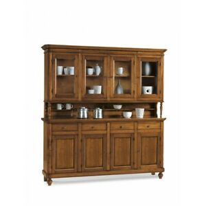 Glass Cabinet Neapolitan, Base + Lifting Up, 4 Doors CMS 196X43X218H (508)