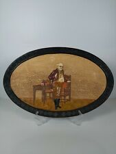 More details for rare bretby art pottery dickens ware wall plaque,  no3018 appr. 38x24.5cm
