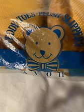 Avon Teddy Bear Slippers Size Medium Nwt