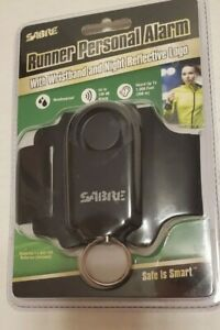 SABRE Weatherproof Runner Personal Alarm 130dB With Reflective Logo Wrist Band