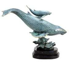 Contemporary Bronze Sculpture - Blue Whale Mother With Her Child - Signed Milo
