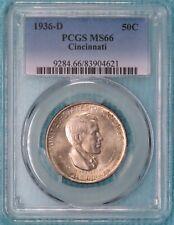 1936-D MS-66 Cincinnati Classic Commemorative Silver Half Dollar Uncirculated #2