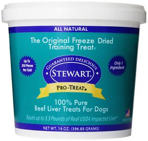 Stewart Freeze Dried Beef Liver Treats, No Preservatives Or Additives, 14 oz
