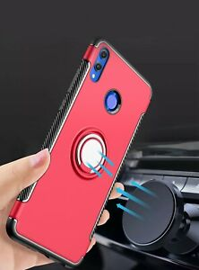 Dooqi For Huawei Honor 8X Ring Stand Holder Shockproof Rugged Case Cover