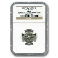 United States Feuchtwanger Composition One Cent 1837 NGC XF40