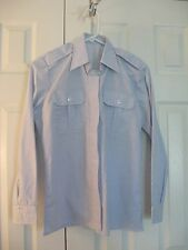 U.S. Coast Guard Light Blue Long Sleeve Dress Shirt 15x34x32