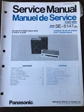 Original Panasonic Technics Model SE-8147 Compact Stereo System Service Manual