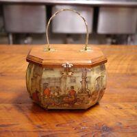 Vintage 70s Anton Pieck Decoupage Wooden Box Purse Handbag