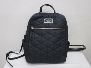 KATE SPADE Black Quilted Small Shoulder Handbag Back Pack School Satchel Purse
