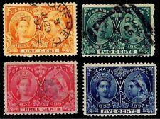 1897 CANADA #51-54 JUBILEE ISSUE - USED - F/VF+ - CV$70.50 (ESP#2288)