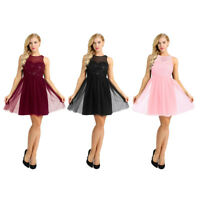 Elegant Women's Sparkly Tulle A-Line Dress Prom Evening Party Bridesmaid Wedding