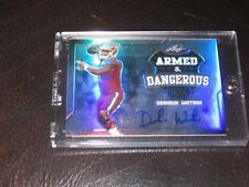 deshaun watson armed and dangerous rookie autograph hot rc on card auto