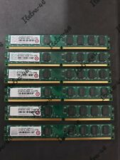 **JOB LOT** 6x Transcend 2GB DDR2 667 DIMM CL5 LOW PROFILE **USED**