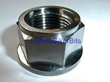 KAWASAKI KLV1000 ZXR400 2013-ONWARDS REAR AXLE FLANGED NUT TITANIUM M18X1.5 R2C8