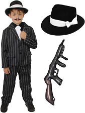 Childs 1920's Gangster Fancy Dress Costume