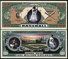 Baseball ~ Home Run ~ Million Dollar Bill Collectible Funny Money Novelty Note