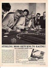 1964 MODEL MOTORING SET / STIRLING MOSS ~ ORIGINAL AURORA PRINT AD