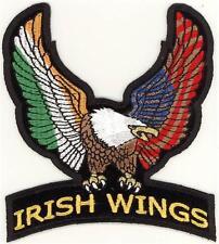 Biker Irish Eagle Wings Patch