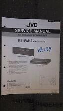 JVC ks-rm12 service manual original repair book stereo cd player changer control