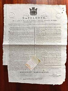 W783-NAPOLEONE,1/4/1808, VENEZIA PORTO FRANCO, S.GIORGIO EVACUATA E NUOVO CANALE