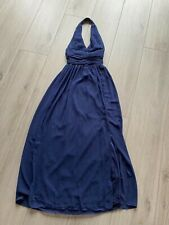 Langes Abendkleid, Gr. 34, dunkelblau, TFNC London