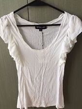 Brand New with Tag Bettina Liano White Top with Ruffle Sleevs Size 8