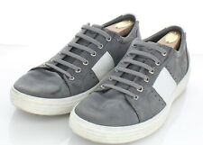 27-48 $160 Men's Size 45 EU Ecco Soft 7 Summer Gray Leather Low-Top Sneakers