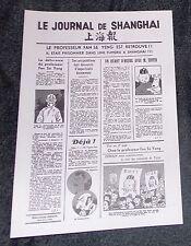 TINTIN LE JOURNAL DE SHANGAI  PORT OFFERT 32X22