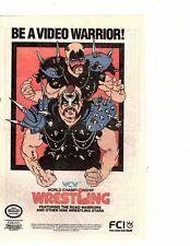 WCW World Championship Wrestling Nintendo Game VTG 1989 Comic Book Print Ad (hk1