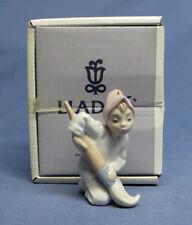 Vintage Lladro Daisa Elf Boy Holding Paint Brush Porcelain Figurine Ornament Mib