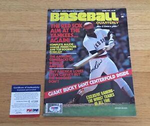 Jim Rice Boston Red Sox Signed Autograph 1979 Baseball Magazine PSA DNA COA