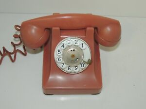 Rare Vintage Original Western Electric 302 Rose Pink Dial Phone