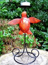 Metal Candlestick Styled Carved Wooden Figure Lovely Turtle 23 cm Home Décor