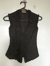 Review black top with ruffles in size 6
