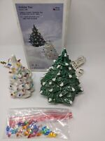 VINTAGE SET OF 2 CERAMIC LIGHTED CHRISTMAS TREES IN ORIGINAL BOX