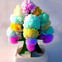 Kids MAGIC CRYSTAL GROWING TREE KIT Christmas Paper Decoration Science Toy Gift