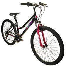 """Muddyfox Life 26"""" Ladies Hardtail Mountain Bike Black / Pink - Front Suspension"""
