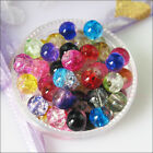 4mm 6mm 8mm 10mm 12mm Mixed Glass Crackle Loose Round Ball Spacer Beads Charms