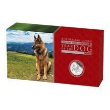Lunar II Hund Dog PROOF Box COA  2018 polierte Platte PP three-coin set 3